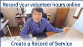 Record your volunteer hours online